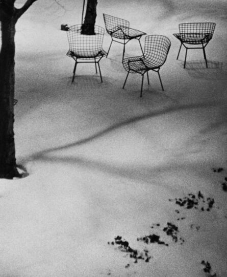 André Kertész, 'Wire Chairs in Snow, MoMA', 1965