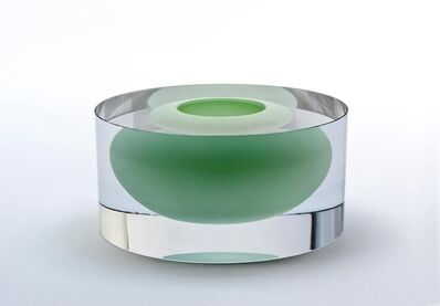 Tora Urup, 'Clear cylinder with floating jade green bowl', 2014