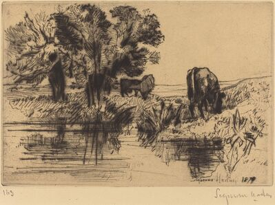 Francis Seymour Haden, 'The Three Cows', 1877