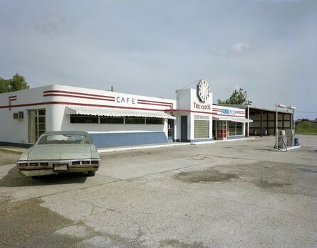 Jim Dow, 'Clock Truck Stop, US 11, Picayune, Mississippi', 1978