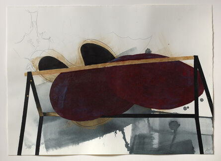 Alison Wilding, 'Black Dog Drawing 1', 2019