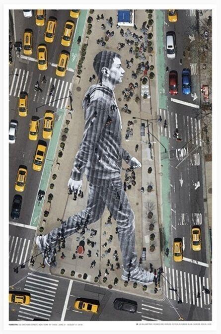 JR, 'Migrants, walking New York city', 2018