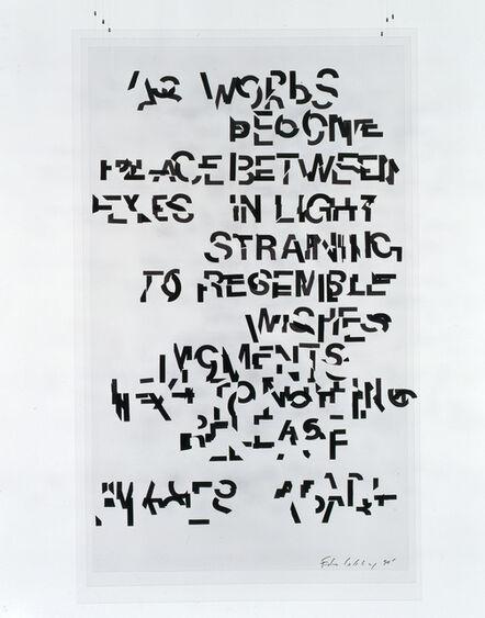 Edwin Schlossberg, 'As Words ', 1990