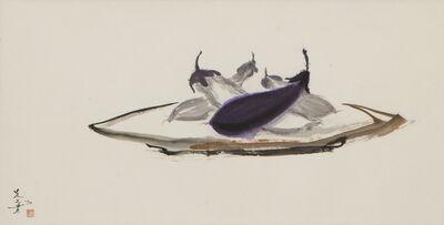 Minol Araki, 'Eggplants on Platter (MA-074)', 1978