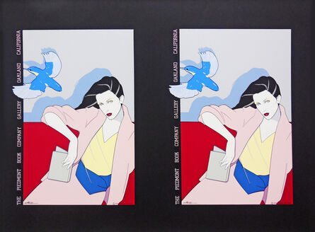 Patrick Nagel, 'The Piedmont Book Company, Oakland- Rare Double Print Edition', 1979