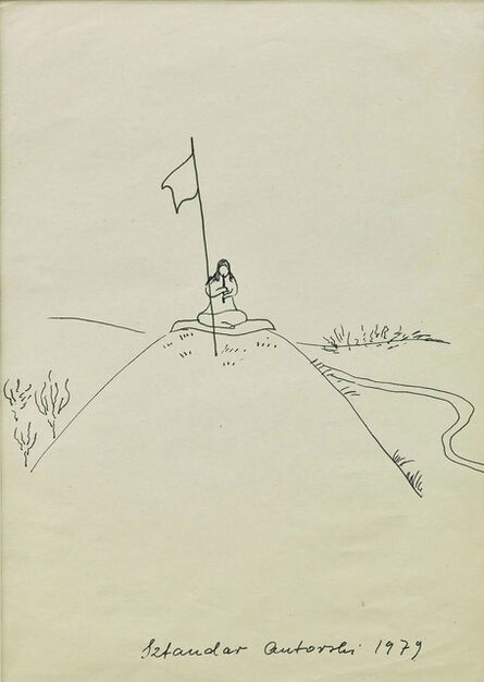 "Maria Pinińska-Bereś, 'ketch for the performance ""Author's Flag"" (Sztandar autorski)', 1979"