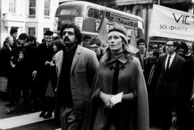 David Hurn, 'Tariq Ali and Vanessa Redgrave on an anti-Vietnam War march', 1968