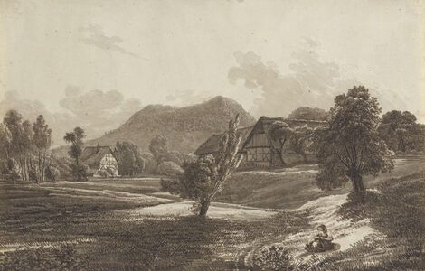 Christoph Nathe, 'Lusatian Landscape with the Landeskrone Mountain', ca. 1790