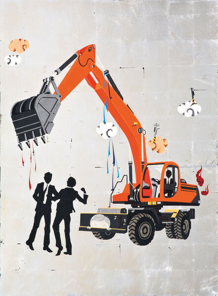 Chien-Chiang Hua, 'Ferocious people - Unhappy Excavator', 2013