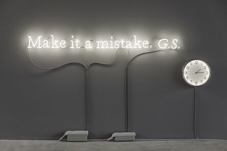 Joseph Kosuth, ''Existential time #10'   Make it a mistake. G.S.', 2019