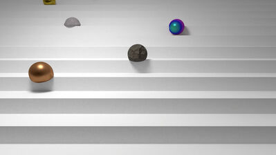 Jesper Carlsen, 'Balls on Stairs', 2016