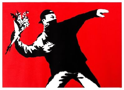 Banksy, 'Love is in the Air (Flower Thrower)', 2003