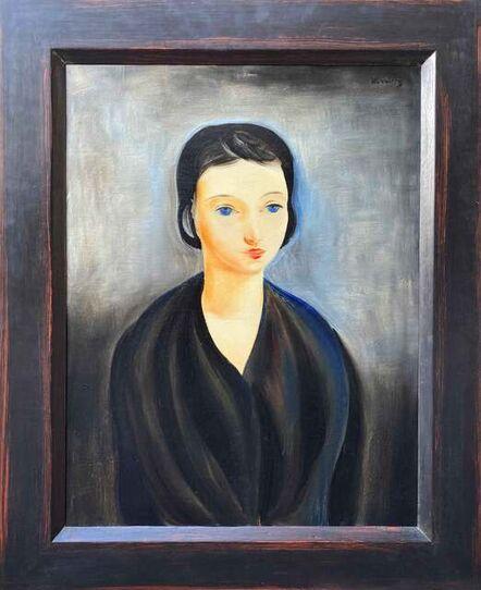 Moïse Kisling, 'Jeune Brune aux Yeux bleus', 1924