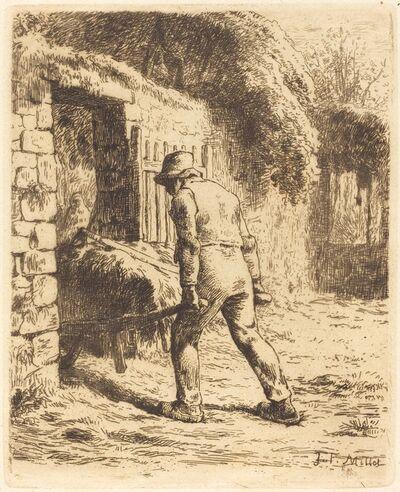 Jean-François Millet, 'Man with Wheelbarrow (Le paysan rentrant du fumier)', 1855