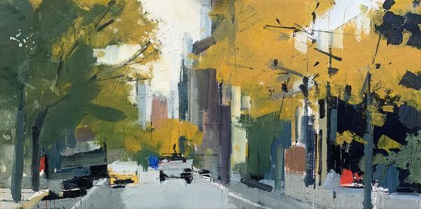 Lisa Breslow, 'Ochre Trees, Soho', 2021
