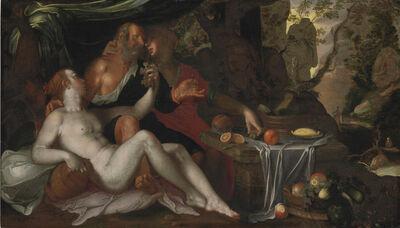 Studio of Joachim Anthonisz Wtewael, 'Lot and his Daughters'