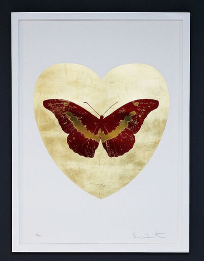 Damien Hirst, 'I Love You, Butterfly, Red/Gold', 2015