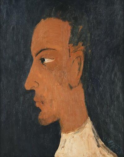 Chiu Ya-tsai, 'Side portrait of Man', 1990