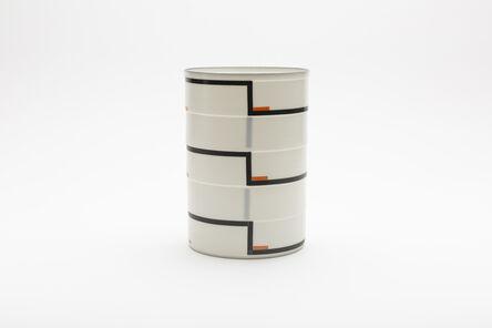 "Bodil Manz, 'Cylinder No. 3a ""Black and orange""', 2018"