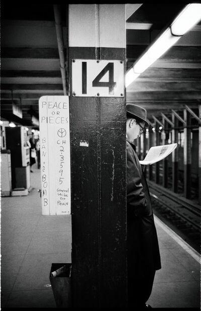 Jim Marshall, 'Peace or Pieces, New York Subway', 1962