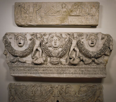 'Front Panel of a Garland Sarcophagus', ca. 140 -170