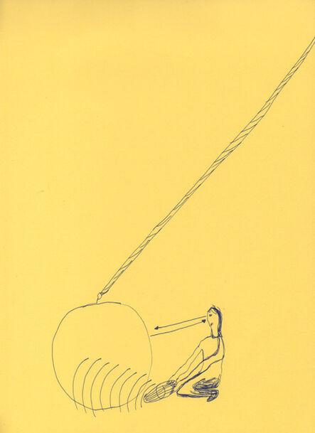 Celina Eceiza, 'Serie ¿donde esta la hora? . Dibujos de obra sonora para esculturas'