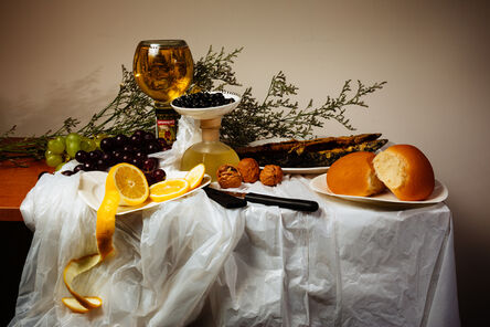 Wong Wai Yin, 'Still life with discounted food on the expiry date', 2014