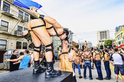Mitchell Funk, 'The Kiss, Folsom Street Fair, BDSM Leather Event #28', 2015
