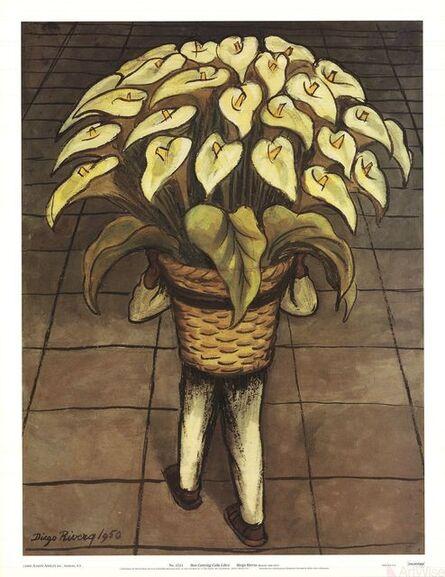 Diego Rivera, 'Man Carrying Calla Lilies', 2000