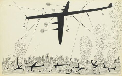 Saul Steinberg, 'Bombing, South Pacific', 1945