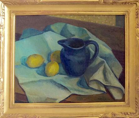 RAD Miller, 'Still Life of Blue Pitcher with Lemons', 1920s