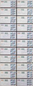 Alighiero Boetti, 'Lavoro postale (permutazione)', 1972