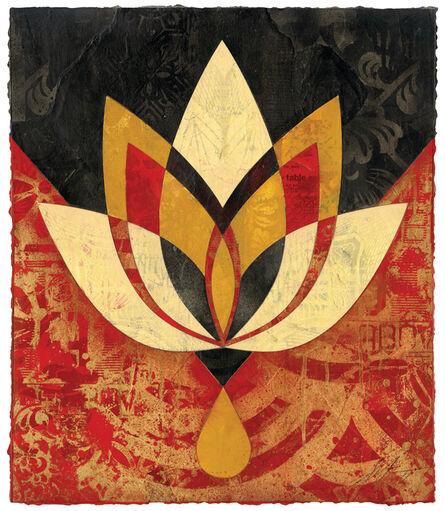 Shepard Fairey, 'Bleeding Lotus, Version 2', 2018