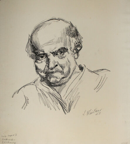 Ludwig Meidner, 'Selbstbildnis nach links', 1965