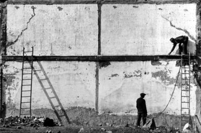 Arnold Newman, 'Two Men Against Wall with Ladders, Allentown', 1939