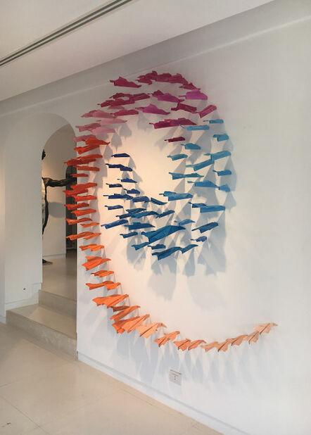 Blue and Joy, 'Paper Plane installation', 2016