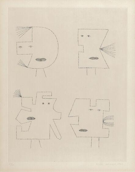 Victor Brauner, 'Plate II from the portfolio Codex d'un Visage', 1962