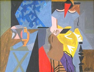 André Lhote, 'Lady in an Interior', ca. 1935