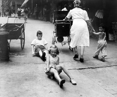 John Albok, 'New York Scene (Sidewalk Race)', 1945
