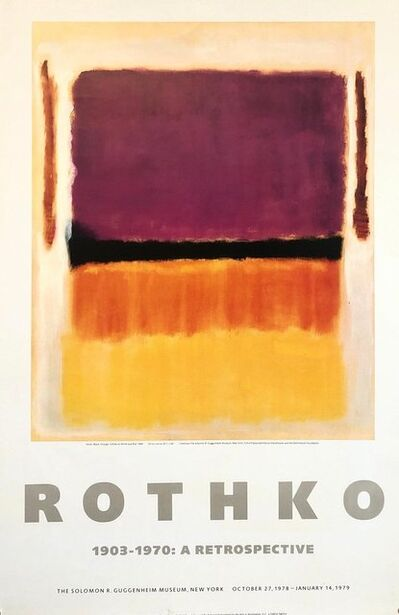 Mark Rothko, 'Vintage 1970s Mark Rothko Gallery Museum Poster Abstract Expressionism', 1970-1979