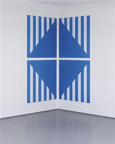 Daniel Buren, 'PVC bleu pour un angle (in 4 parts)', 2003