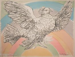 "Pablo Picasso, 'Peace Dove with Rainbow, ""Colombe Volant d'Arc en Ciel""', 1952"