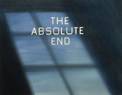 Ed Ruscha, 'The Absolute End', 1982