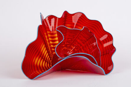 Dale Chihuly, 'Dale Chihuly - Tango Red Persian Set 2-piece set, Handblown Glass', 2004