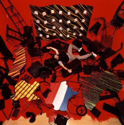 Dan Friedman, 'View of Dan Friedman in his Postnuclearism installation at Red Studio gallery, New York', 1984