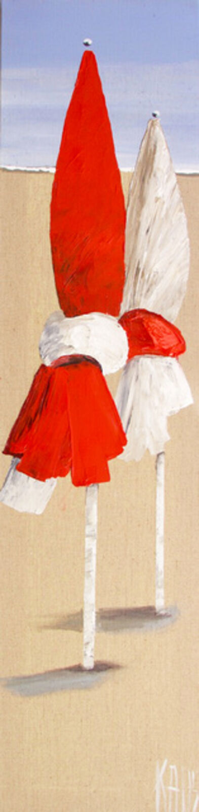 Michele Kaus, 'The two parasols, Deauville', 2020