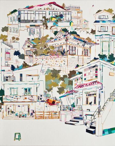 Mi Young Je, 'A street scene', 2012