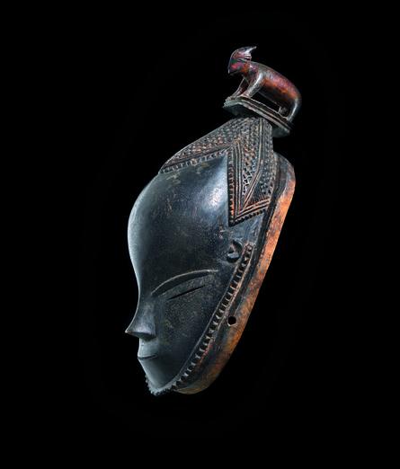 'Masque avec animal (bélier) (Mask with animal [ram])', 19th century