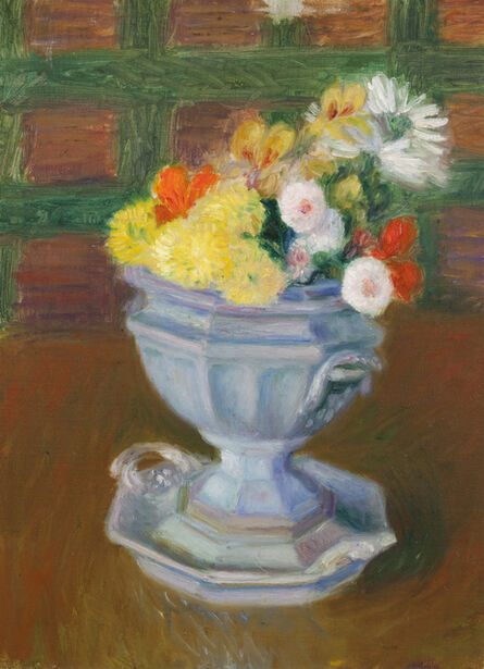 William James Glackens, 'Flowers in an Ironstone Urn'