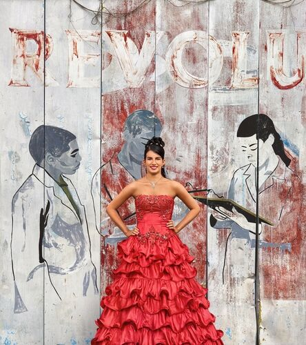 Frank Thiel, 'Lisandra de la Caridad Rodríguez Ramayo, La Habana, Arroyo Naranjo, Mantilla', 2016